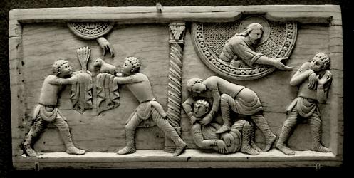 Abel y Cain bajorelieve