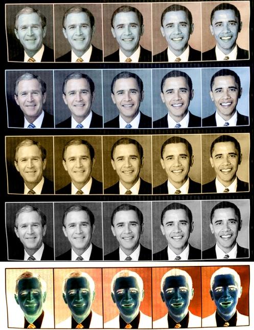 Bush Obama morphing 5x5 full