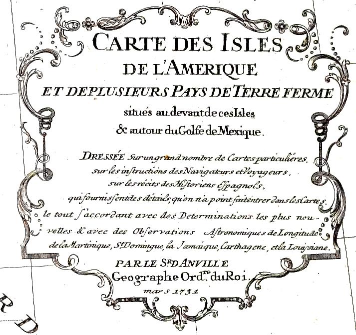 Carte des Isles 1731